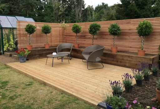 Decking, Vegetable Beds and Fencing