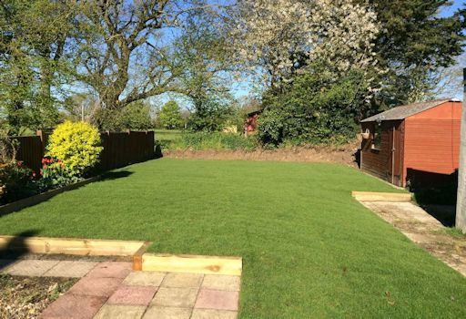 Laying a new Lawn in Great Ellingham, Norfolk