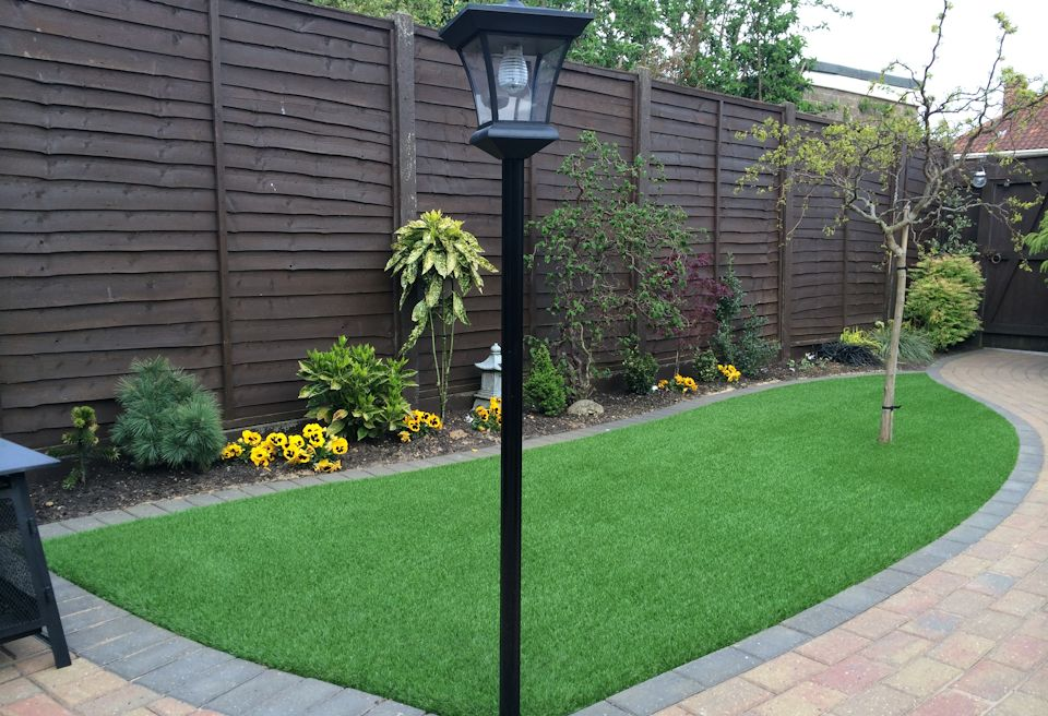 Artificial Grass Norwich - New artifical grass with tree planting