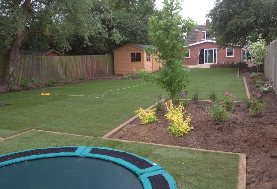 Garden Design Gorleston, Norfolk - New borders with semi mature planting