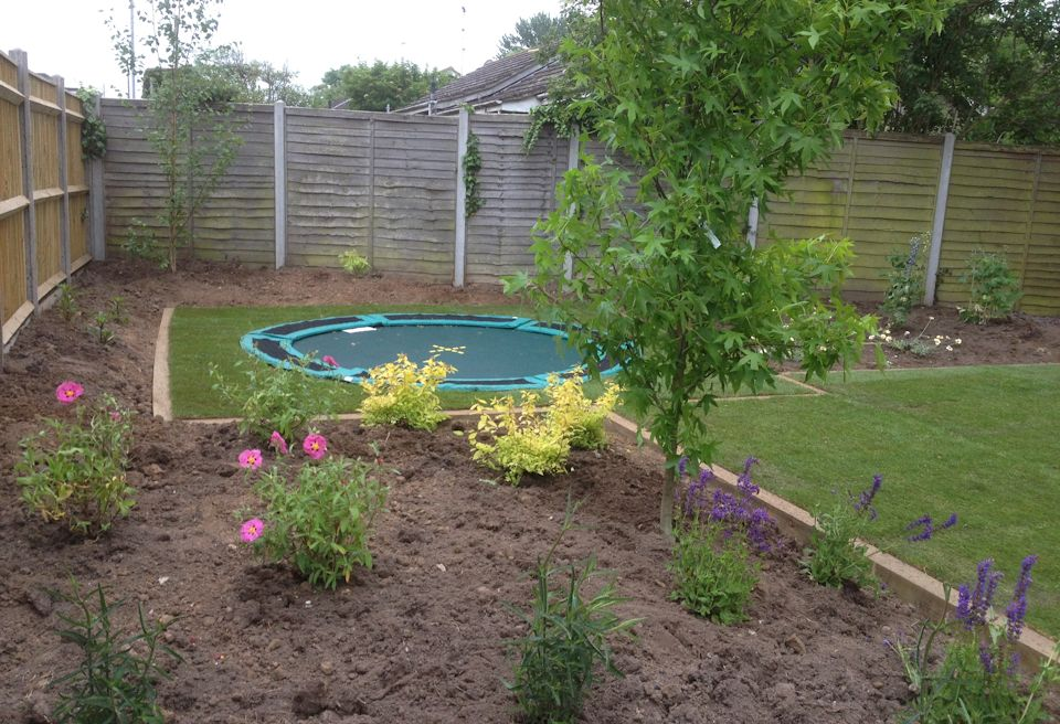 Garden Design Gorleston, Norfolk - Inset Trampoline Play Area