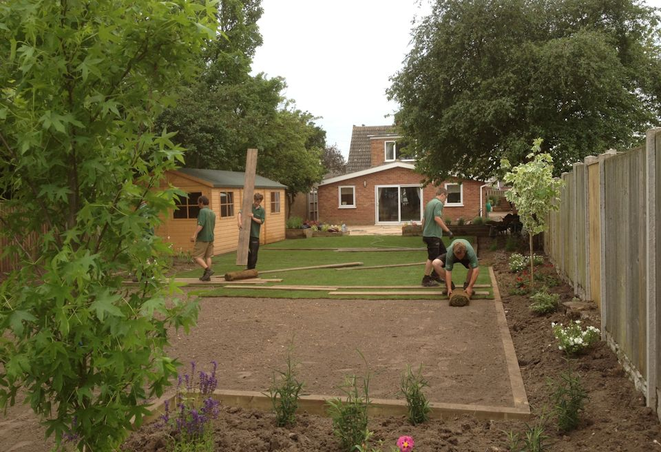 Garden Design Gorleston, Norfolk - Laying New Turf