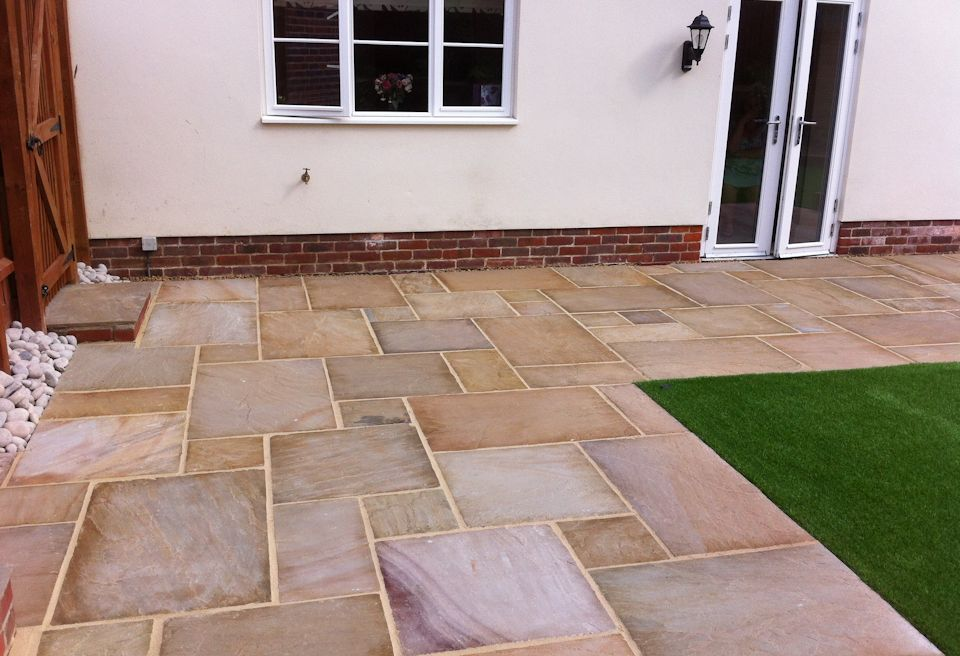 Landscaping and Garden Design Norwich - Large Patio Area for entertaining