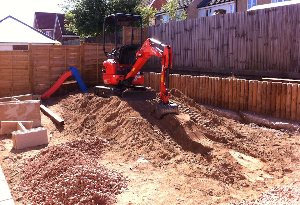 Landscaping and Garden Design Norwich - Soil Removal to create a level base