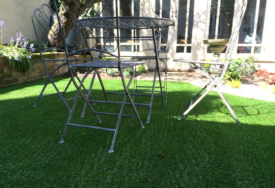 Low Cost Garden Design Wymondham, Norfolk   Low Maintenance Artifical Lawn  ...