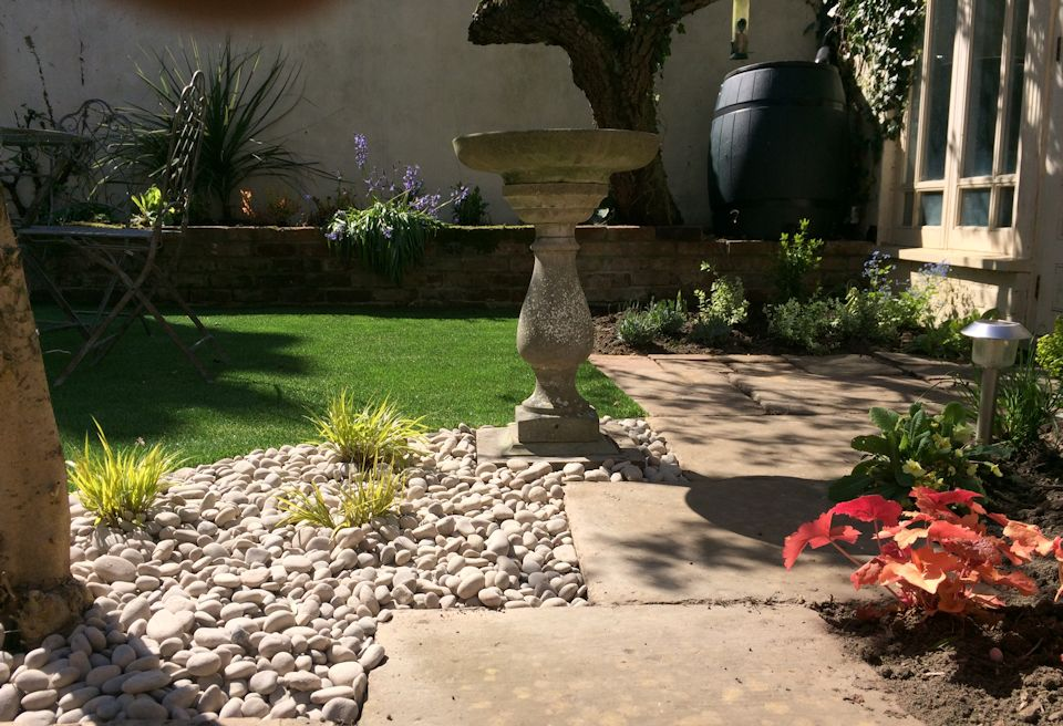 Low Cost Garden Design Wymondham, Norfolk - New borders, planting and uncovering existing features