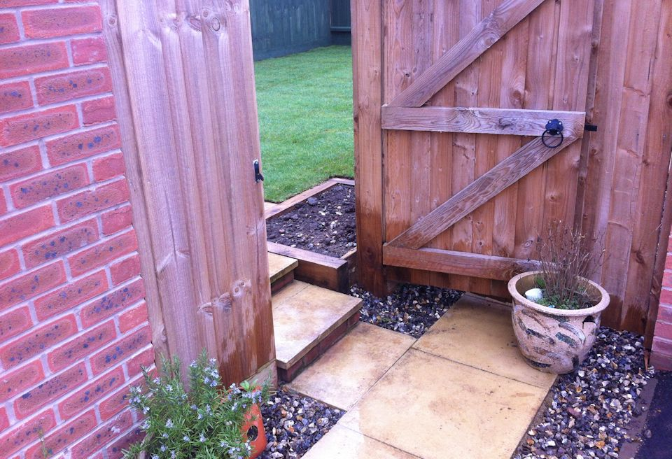 ... Small, Simple Garden Design Watton, Norfolk   New Paving, Steps And  Patio Were